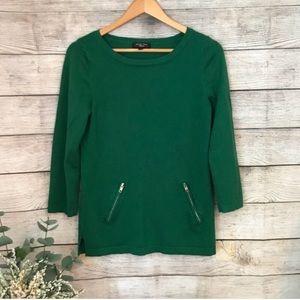 Spense Forest Green Knit Top